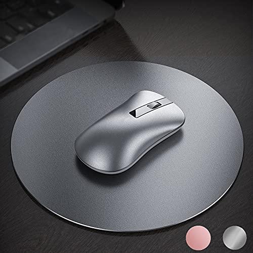 BIGFOX Tappetino Mouse,Doppio Lato(Alluminio e Gomma),Mouse Pad Sottile e Leggero,Superficie Liscia,Base in Gomma Antiscivolo, Impermeabile, per Tastiera, Ufficio, Mac, Laptop