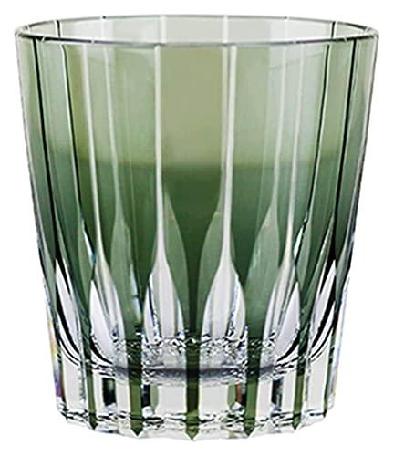 NUOCHEN Gafas de Whisky Copa de Vino Copa Astral Tallada a Mano Copa de Vino Tallado de Vidrio Espíritu de Cristal Copa de Agua fría 280 ml (Color : Transparent, Size : 280mL*1)