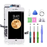 SZRSTH Compatible with iPhone 7 Plus Screen Replacement White 5.5 Inch LCD Display with 3D Touch Screen Digitizer Frame Assembly Include Full Free Repair Tools Kit+Instruction