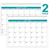 2021-2022 Calendar - 2 Pack Monthly Wall/Desk Calendar, 18 Months Calendar from July 2021 - December 2022, Generous Memo Lined Pages with A4 Premium Thick Paper, 11 x 8.5 Inches