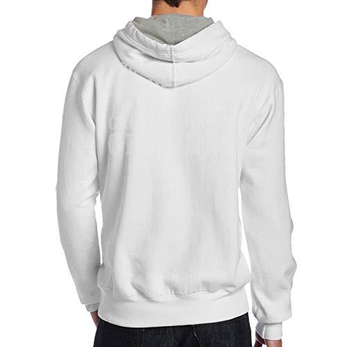NozzFlux Growing Old is Mandatory, Growing Up is Optional Men's Hoodie Sweatshirt Hoodie Jacket Hoody Pullovers Sweatshirt Fleeces Costume White M
