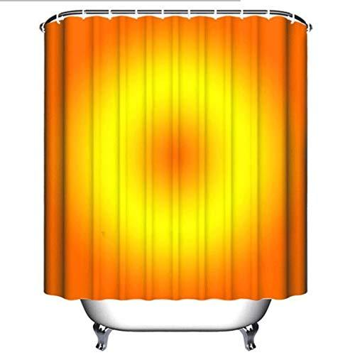 cortinas de baño antimoho naranjas