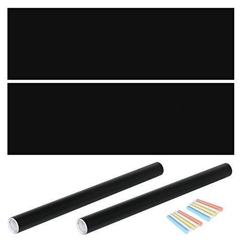 Yaheetech Tafelfolie Kreidefolie Selbstklebende Folie Blackboard Folie für Büro und Zuhause, 60 x 200 cm Schwarz