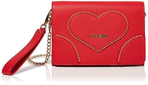 Love Moschino Borsa Pu, Borsetta da Polso Donna, (Rosso)), 16x24x3 cm (W x H x L)