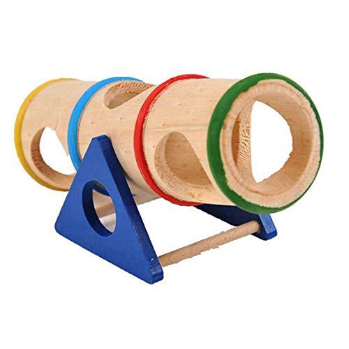 Gojiny Balancín de Hámster de Madera Mascotas Escondidas Escalada Tubos de Túnel de Ejercicio Juguete Masticable para Mascotas Pequeñas Ardilla Conejillo de Indias Chinchilla