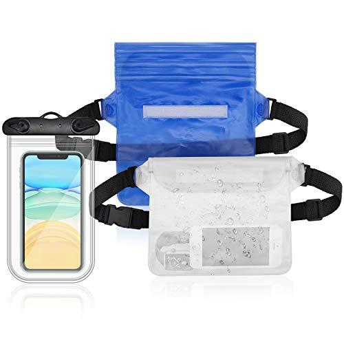 YLX Set de Bolsa Waterproof, Riñonera Impermeable Universal
