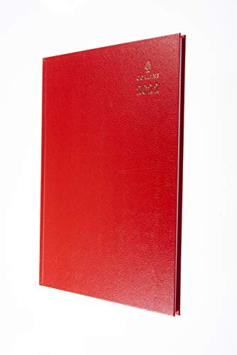 Collins Agenda 2022 - Escritorio (A4, día a página), color rojo