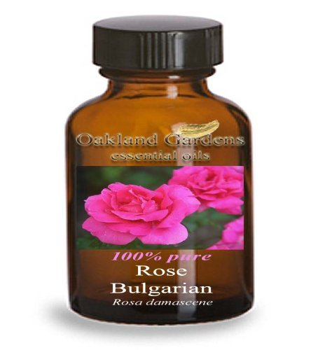 ROSE Bulgarian Essential Oil - 3% Absolute - 100% PURE Essential Oil Therapeutic Grade - Aroma: Very rich, deep, sweet-floral, slightly spicy - Rosa damascena - Essential Oil By Oakland Gardens (10 mL)