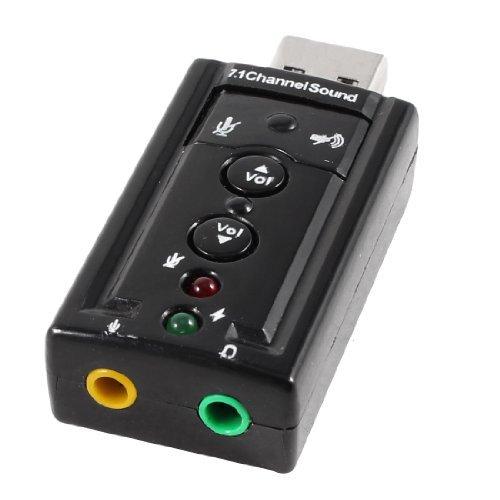 DealMux Anschluss Externer USB 2.0 zu 3D Virtual Audio Soundkarten Adapter 7.1 CH 3.5mm