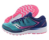 Saucony Women's Guide ISO 2, Teal/Pink, 5 B