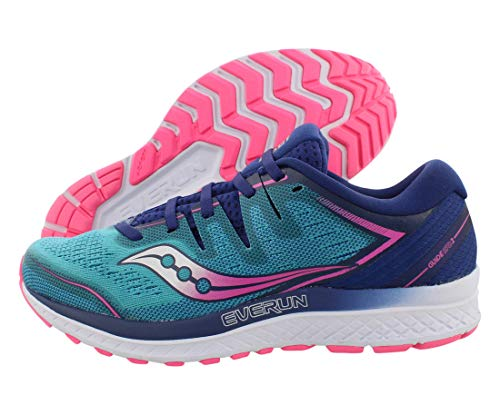 Saucony S10464-3 Women's Guide ISO 2, Teal/Pink, 7.5
