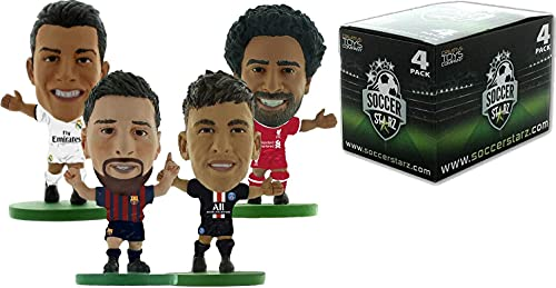 SoccerStarz - Best Players in The World 4 Player Pack 2020 (4 x Club Blister en Caja)/Figuras