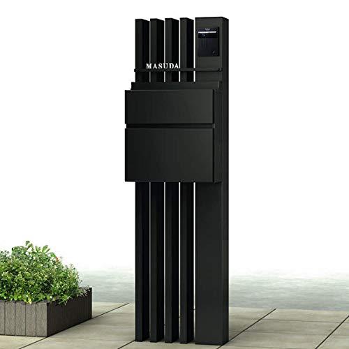 YKKAP ルシアスポストユニットAS02型 表札灯タイプ 本体(R) UMB-AS02 エクステリアポストT10型 アルミカラー *表札はネームシールです 門柱 機能門柱 ポスト おしゃれ 照明付き 本体色をお選び下さい