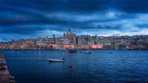 ZLL Puzzles for Erwachsene, Valletta Malta Puzzlen, die Stadt Puzzles (Size : 1500 Pieces (87 * 57cm))