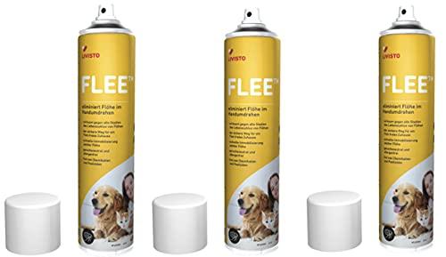 FLEE TM - 3 Dosen a 400 ml - Umgebungsspray gegen Flöhe, Hausstaubmilben und Allergene - von Tierarzt Dr. med. Vet. Stefan Knoop empfohlen
