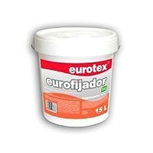 Imprimación para paredes Eurofijador de yeso, escayola, pladur. antes de la aplicación de la pintura plástica elegida. – 4 litros –
