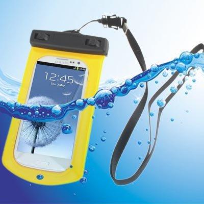 Liaoxig Carcasa de telefono Bolsa Impermeable con Correa y Brazalete for Galaxy SIII / i9300, Amarillo Carcasa de telefono (Color : Amarillo)