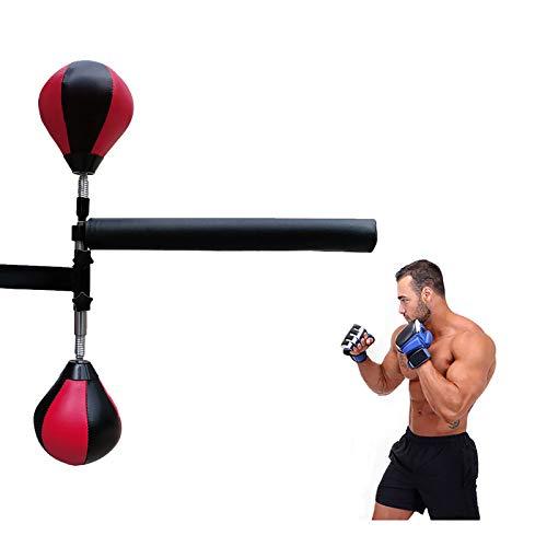 Boxing Spinning Bar mit 2 Bällen, 360 ° drehbar Rapid Reflex Boxing Bar an der Wand Boxen Fitness Training Spinning Spar Bar für Kampfsport & Kickboxen zu Hause Fitnessstudio Erwachsene Kinder