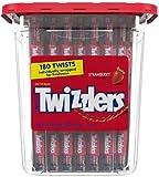 2. Twizzlers- Red Licorice Strawberry Twists, 180ct