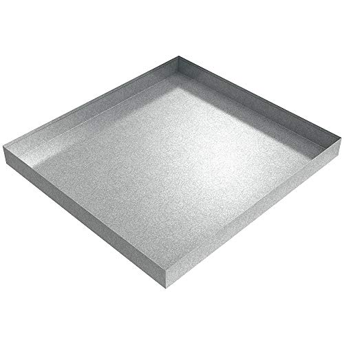 "27"" x 25"" x 2.5"" Compact Washing Machine Drip Pan (Galvanized Steel)"