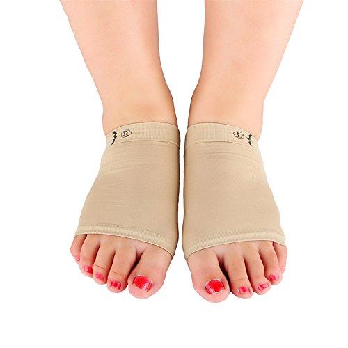 Yosoo 1 Paar Gel Bogen Kissen Hülle Gel Bogen Pads Fuß Gegenstütze mit Gel-Keil für Plattfüße/gefallenen Bögen/Sport Wunde Füße, Fußschmerzen lindern