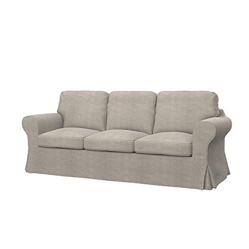 Soferia - IKEA EKTORP PIXBO Funda para sofá Cama de 3 plazas, Glam Taupe