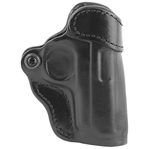 DeSantis 155BA37Z0 Gunhide, 155 Criss-Cross, Belt Holster, Right Hand, Black Leather, Fits Sig P938, Kimber Micro 9mm, N/A