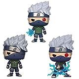 3 Unids / Set Figuras Pop Anime Kakashi (Lightning Blade) # 822 # 548 # 182 Figura De Acción De Vinilo Colección De PVC Modelo Juguetes para Niños Regalos De Cumpleaños En Caja 10Cm