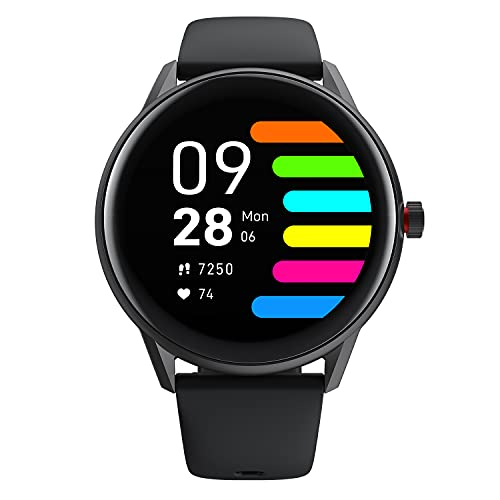 [Voller Touchscreen] Smartwatch für Herren Damen Smart Fitness Tracker Uhr herzfrequenz IP68 Wasserdicht Schlaf Schwimmen Sportuhr Tracker Uhr mit Musiksteuerfunktion für Android IOS Phones