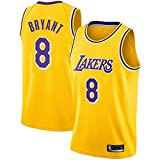 FRHLH Morey, The Rockets, Lakers Kobe Bryant # 8 Trikot - Klassisches ärmelloses Set, Los Angeles, Trikot, Basketball für Männer und Unisex Basket Suit T-Shirt Yellow-M