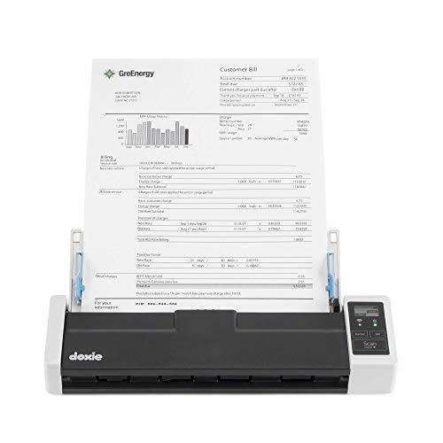 Doxie Q2 - Escáner inalámbrico de Documentos A4, Recargable y con alimentador automático de Documentos