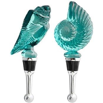 Blue Glass Starfish Wine Bottle Stopper LS Arts BS-421