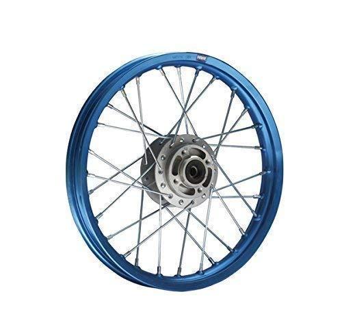 Hmparts Pit Bike / Dirt Bike / Cross - Aluminio - Llanta Anodizado 14' Delantero Azul Azul