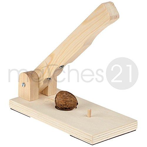matches21 Tisch Nussknacker Bausatz aus Holz Nuss-Knacker Werkset mit Bauanleitung Bastelset