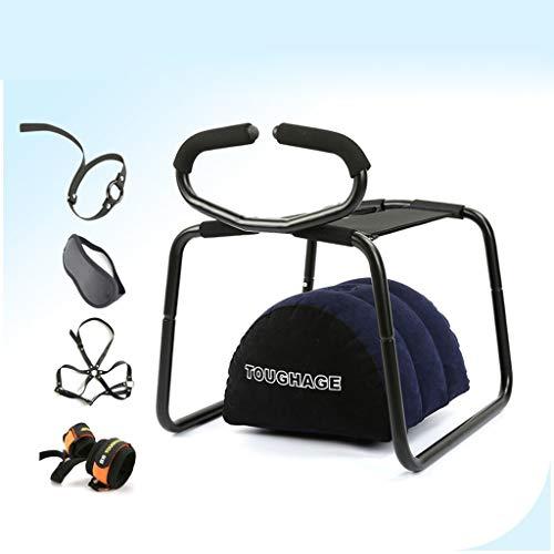 Plhcr Zwei-in-One-SM-Stuhl Aphrodisiakum Spielzeug Multifunktionale Bounce Elastizität Kissen Hocker Spielzeug, Mehrzweck-Kissen Stuhl