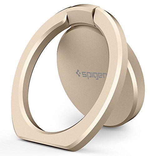 Spigen Style Ring 360 Cell Phone Ring/Phone Grip/Stand/Holder for All Phones and Tablets Compatible with Magnetic Car Mount - Champagne Gold