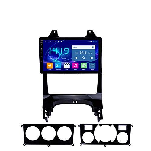 BBGG Navegación satelital GPS estéreo para automóvil Android 9, Imagen de Marcha atrás Teléfono Manos Libres Bluetooth/DVD/FM/Am/WiFi, navegador GPS 4G + 64G com(Size:Acondicionador de Aire Manual)