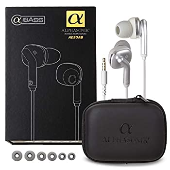 Alphasonik Premium In Ear Noise Isolating Headset Earphones/Earbuds/Headphones with Stereo Microphone & Remote Control Made for Apple iPhone iPad iPod Samsung Galaxy and More IOS/Android Smartphones
