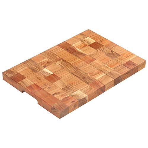 VidaXL Bloc de hachage en bois d'acacia massif 50 × 30 × 3,8 cm