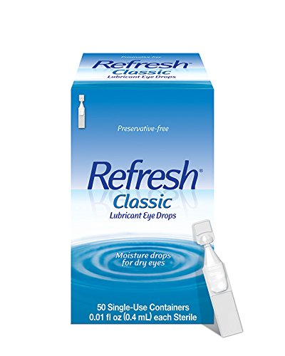 Refresh Classic Lubricant Eye Drops, Preservative-Free,0.01 Fl Oz Single-Use Containers, 50 Count