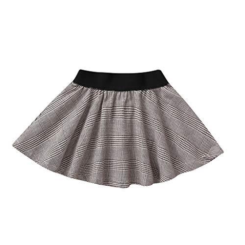 Julhold Baby Kids Meisjes Vrije tijd Plaid Ruche Mini Pettic Casual Katoen Rok Prinses Petticoat Kleding 0-5 Jaar
