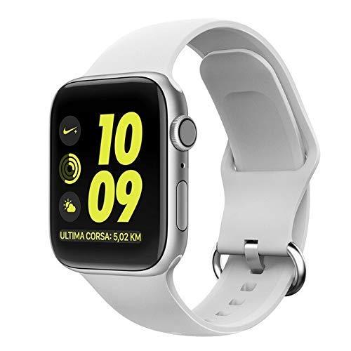 De Galen Correa deportiva para Apple Watch de 4 m, 40 mm, 38 mm, 42 mm, silicona líquida, compatible con Apple Watch 5, 4, 3, 2, 1, 4, 40