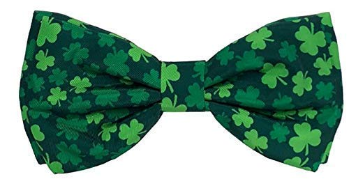 Huxley & Kent Bow Tie | Lucky Shamrock (Large) | St. Patrick's Day Pet Bow Tie Collar Attachment | Fun Bow Ties for Dogs | Cute, Comfortable, and Durable