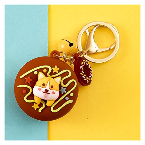 Wgxssjc Keychain Cute Sweet Donuts Keychain For Keys Cat Rabbit Corgi Cute Pet Key Chain Creative Backpack Car Pendant Acceesories Keyring Gifts (Color : 06)