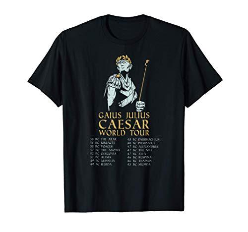 La antigua gira mundial de Cayo Romano Julio César Camiseta