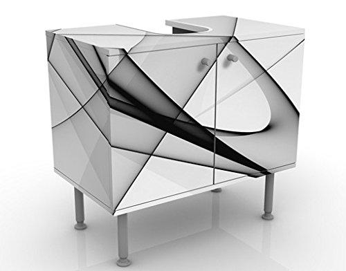 Apalis Waschbeckenunterschrank Winter Shapes 60x55x35cm Design Waschtisch, Größe:55cm x 60cm