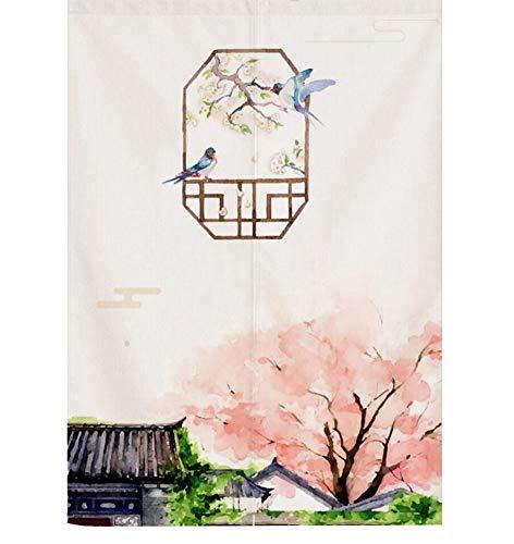 Phoenix Wonder Cortina de Puerta de Feng Shui Chino Tapiz de Cortina Japonesa Noren Cortina de Puerta para decoración del hogar, B41