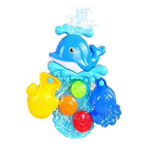 Wasserspiel Dusche, Badespielzeug, Badewanne Spielzeug Baby, Badewannenspielzeug Bad Angeln Spielzeug mit Schwimmenden Fisch, Badespaß ab 2 3 4 5 Jahre Kinder für Badewanne Dusche Pool