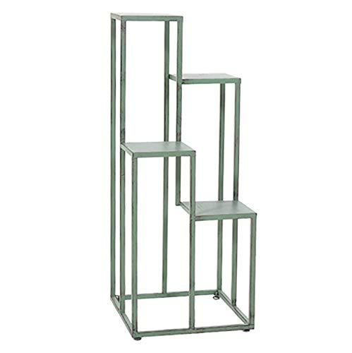 Bloemstandaard Indoor Display Rack 4 Tier Metalen Plant Stand Bloempotten Houder Oude Retro Verf Lange levensduur