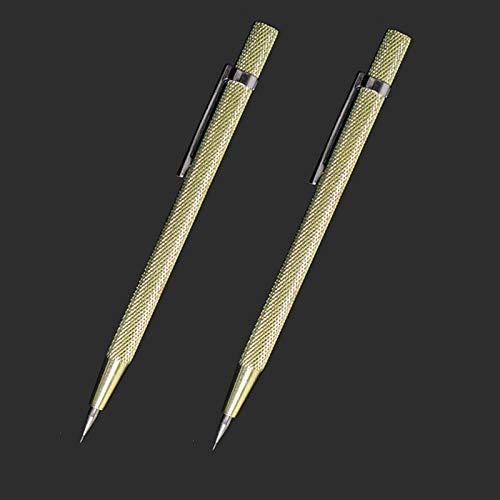 Scribe Tool, 2 Pieces Tungsten Carbide Tip Scriber, Engraved Pen for Tile/Glass/Wood/Ceramics/Metal/Gold/Welding